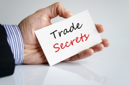 Trade secrets text concept isolated over white background