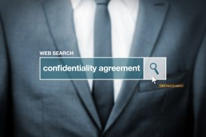 Web search bar glossary term - confidentiality agreement